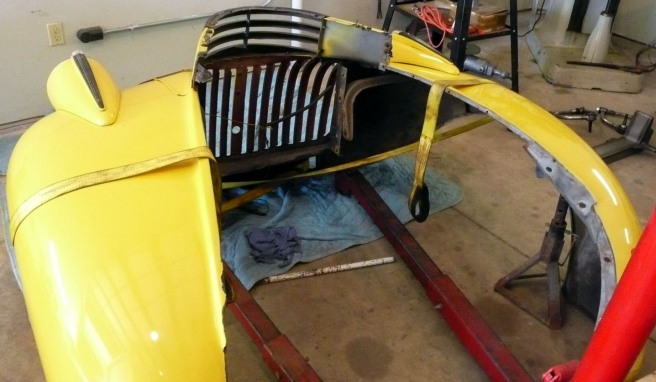 Front fenders and grill 1942 Chevy Pickup